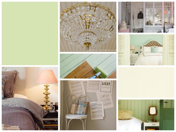 mood board gröna rummet